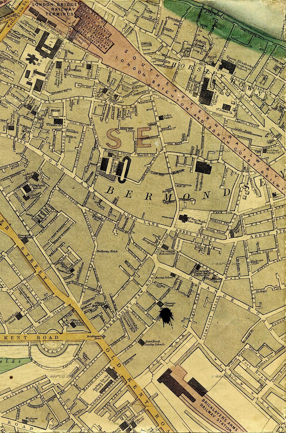 Old Street London Map.Map Of London 1868 By Edward Weller F R G S